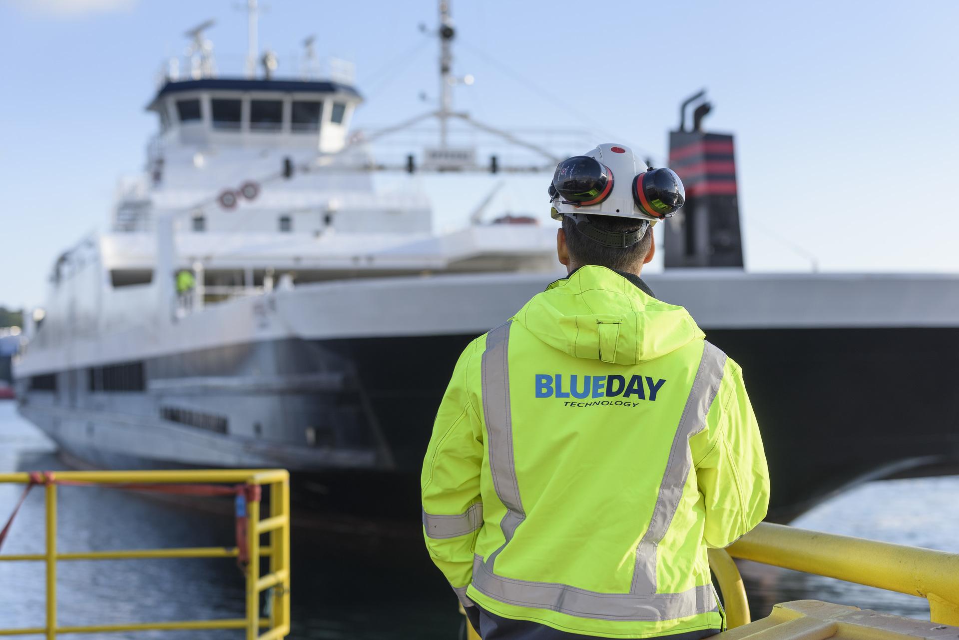 Blueday Technology utvikler blant annet elektrifiseringsløsninger rettet mot transportsektoren. Her ferja MV Opedal.