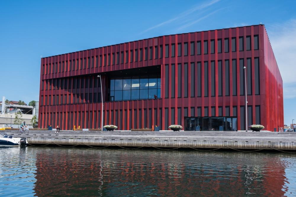 Nye Sandnes rådhus fikk fjernvarme fra Lyse i fjor. Foto: Stavanger Region European Office.