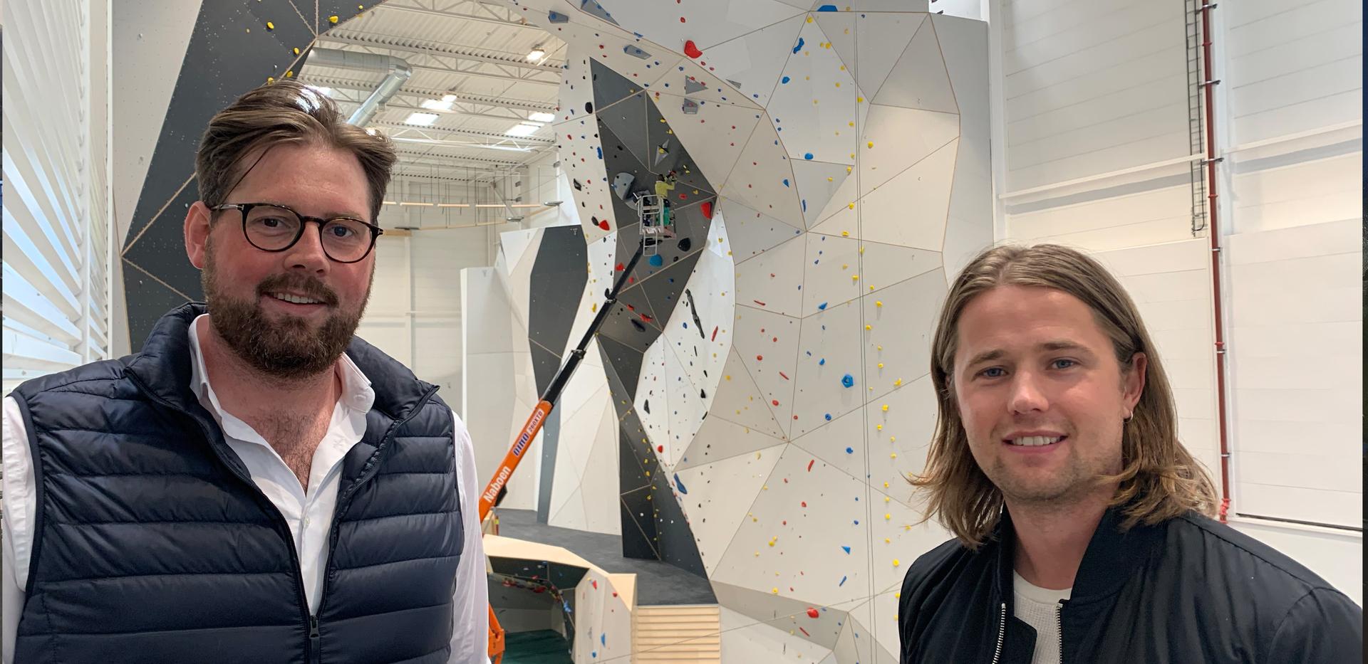Jarleif Tvedt, driftssjef i Tvedt Eiendom og Bernhard Haver Vagle fra Sweco.Foto: Margrethe Vika.