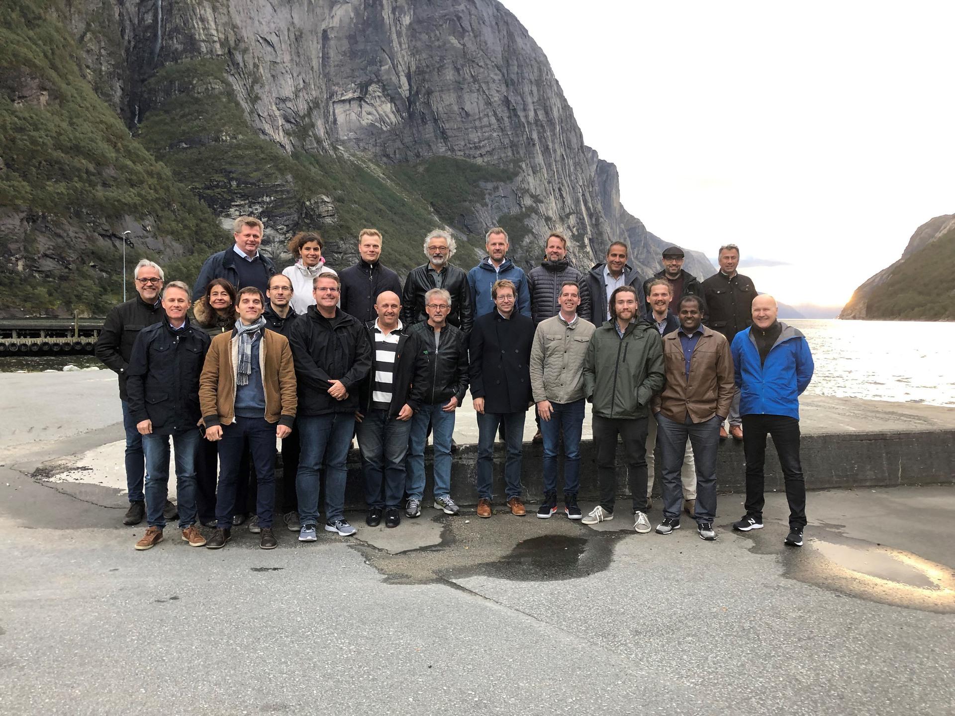 Invade konsortium-møte ble avholdt i Stavanger, med en innlagt tur til Lysebotn.