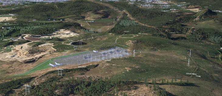 Illustrasjon som viser hvordan utendørsanlegget og bygningene tilhørende Fagrafjell kan se ut på tomten som ligger på grensen mellom Sandnes og Time kommuner.