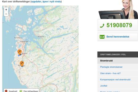 skjermdump av webkart
