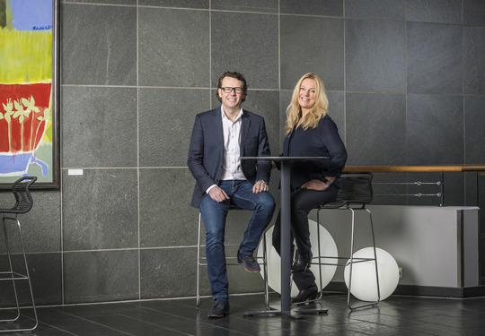 Administrerende direktør Thomas Skjelbred og styreleder Toril Nag