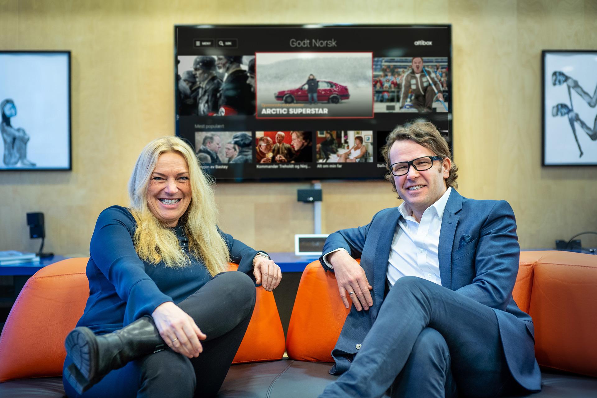 Styreleder Toril Nag og administrerende direktør Thomas Skjelbred i Altibox.